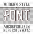 label font modern style Whiskey vector image vector image
