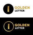 Letter I number 1 logo icon design template vector image