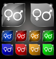 male and female icon sign Set of ten colorful vector image vector image