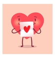 Merry heart for Valentine day vector image vector image