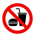 No eating and no drinks allowed vector image vector image