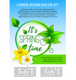 poster for spring time holiday greeting vector image vector image