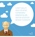 Professor with speech bubble vector image
