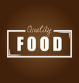 quality food brown background vector image