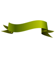 Realistic shiny green-yellow ribbon isolated on vector image vector image