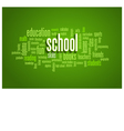 School Word Cloud Bubble Tag Tree on green vector image vector image