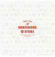 seamless pattern and emblem for hardware store vector image