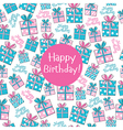 Seamless pattern Happy Birthday vector image vector image