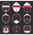 set badges camping and hiking vector image