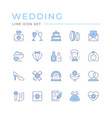 set color line icons wedding vector image vector image