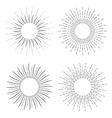Set of Vintage Linear Sunbursts vector image vector image