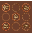 Set of wreaths vector image vector image