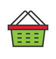 shopping basket online shopping filled style vector image vector image