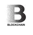 stipple blockchain symbol vector image vector image