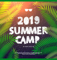 summer holiday and travel themed summer camp vector image vector image