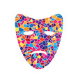 tragedy theatrical masks stained glass vector image vector image