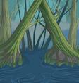 Tree river vector image vector image