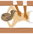 young woman receiving back massage in spa salon vector image vector image