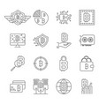 blockchain cryptocurrency icons set bitcoin vector image