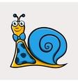 Gentleman cartoon snail with tie vector image