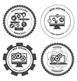 Set of icons web mobile services apps vector image