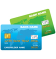 a plastic credit card vector image vector image