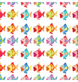 A seamless design of fishes vector image