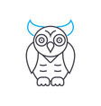 animal world owl thin line stroke ic vector image
