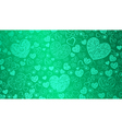 Background of big and small hearts vector image vector image