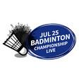 badminton racket sport shuttlecock scoreboard vector image vector image