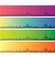 belo horizonte multiple color gradient skyline vector image vector image