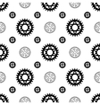 Black gears on white seamless pattern vector image