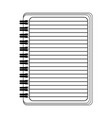 blank notepad open symbol isolated in black and vector image vector image