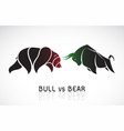 bull and bear symbols stock market trends vector image