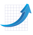 Business graph with arrow vector image vector image