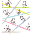 cartoon business people and directions vector image
