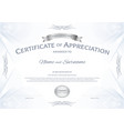 certificate of appreciation template with silver