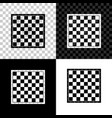 chess board icon isolated on black white and vector image vector image