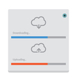 cloud download and upload 8 vector image vector image