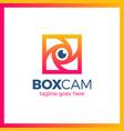 color square camera shutter emblem box photo vector image vector image