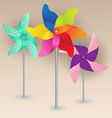 Colorful Pinwheels Design vector image vector image