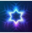 Cosmic shining abstract snowflake vector image vector image
