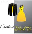 creative black tie vector image