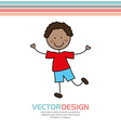 cute kids design vector image vector image