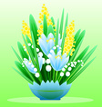 Delicate bouquet of spring forest flowers for your vector image vector image