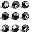 eight ball set realistic 8 ball vector image vector image