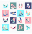 fashion footwear design collection vector image vector image
