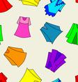 fashionable dresses for girl seamless wallpaper vector image