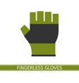 fingerless glove isolated vector image