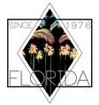 florida summer poster tee vector image vector image